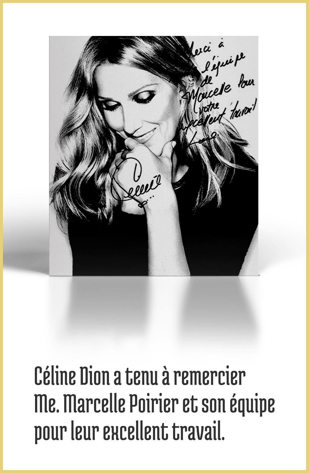 Remerciements Céline Dion